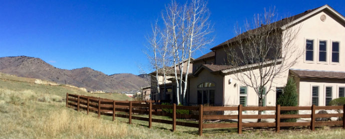 Fossil Court Village properties feature gas log fireplaces, two-car attached garages, balconies, decks and patios in Golden, Colorado