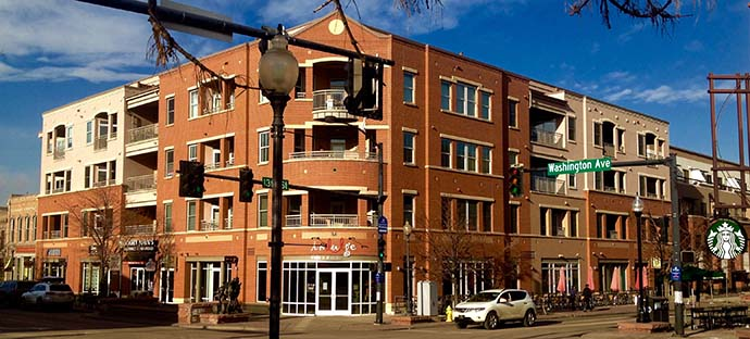 Gateway Station Condominium is right in the center of downtown Golden on Washington Avenue, the main street of Golden, Colorado.