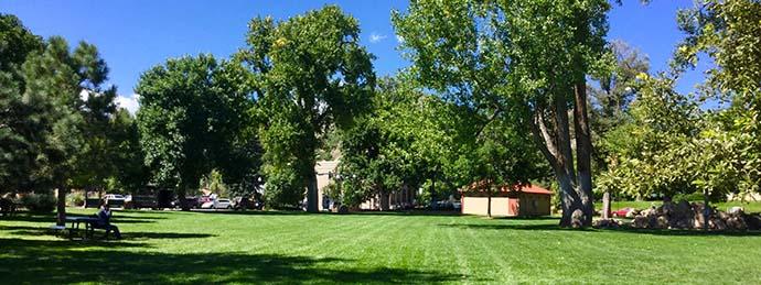 Lion's Park near downtown Golden, Colorado