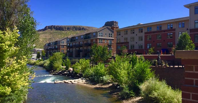 Millstone at Clear Creek is a classy 76-home condominium community located in the heart of downtown Golden, Colorado