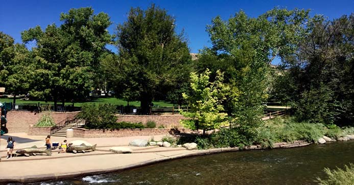 Millstone Condominium is located just across Clear Creek from Parfet Park, Golden's oldest park where many community events are held throughout the seasons in Golden, Colorado