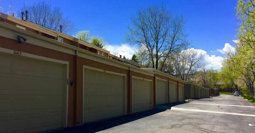 Mountair Village Townhome properties in Golden, Colorado feature detached two-car garages.