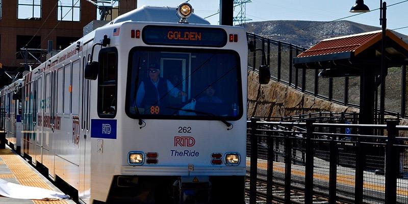 RTD West Rail Line in Golden, Colorado