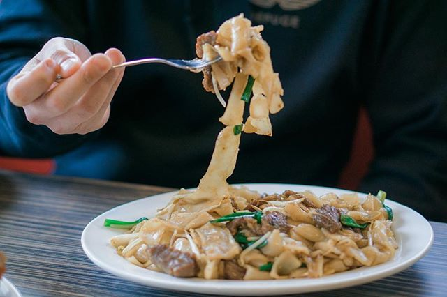 "🚨#FactsFriday🚨 - Beef Chow Fun is a common and very popular Cantonese dish.  This dish includes stir-fried beef, wide rice noodles, and bean sprouts. - The main ingredient is the wide rice noodles. It originated from a town called Shahe in Guangzhou, China. - We make our wide rice noodles in-house every day! - All ingredients are thrown into a wok and and cooked over a high flame while stirred quickly. -  This dish is often used as a major test for chefs in Cantonese Cooking -. Are you a fan of the ""Beef Chow Fun"" Dish?"