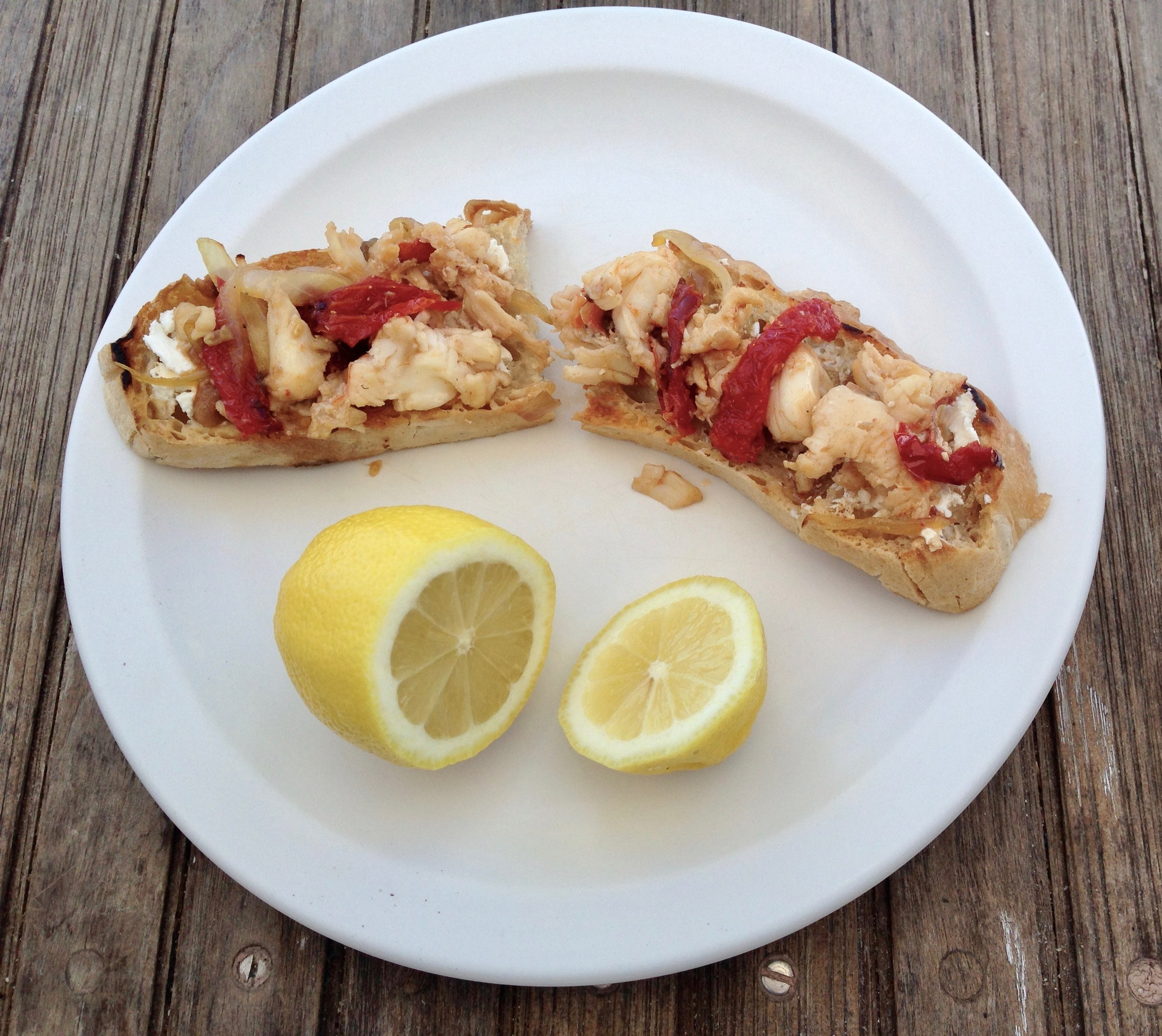 Mojo Sailing Charters lobster appetizer