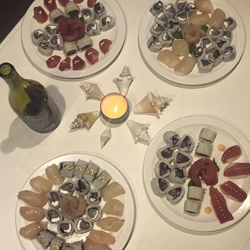Sushi Part on Mojo Sailing Charters in the Bahamas, Tuna & Wahoo