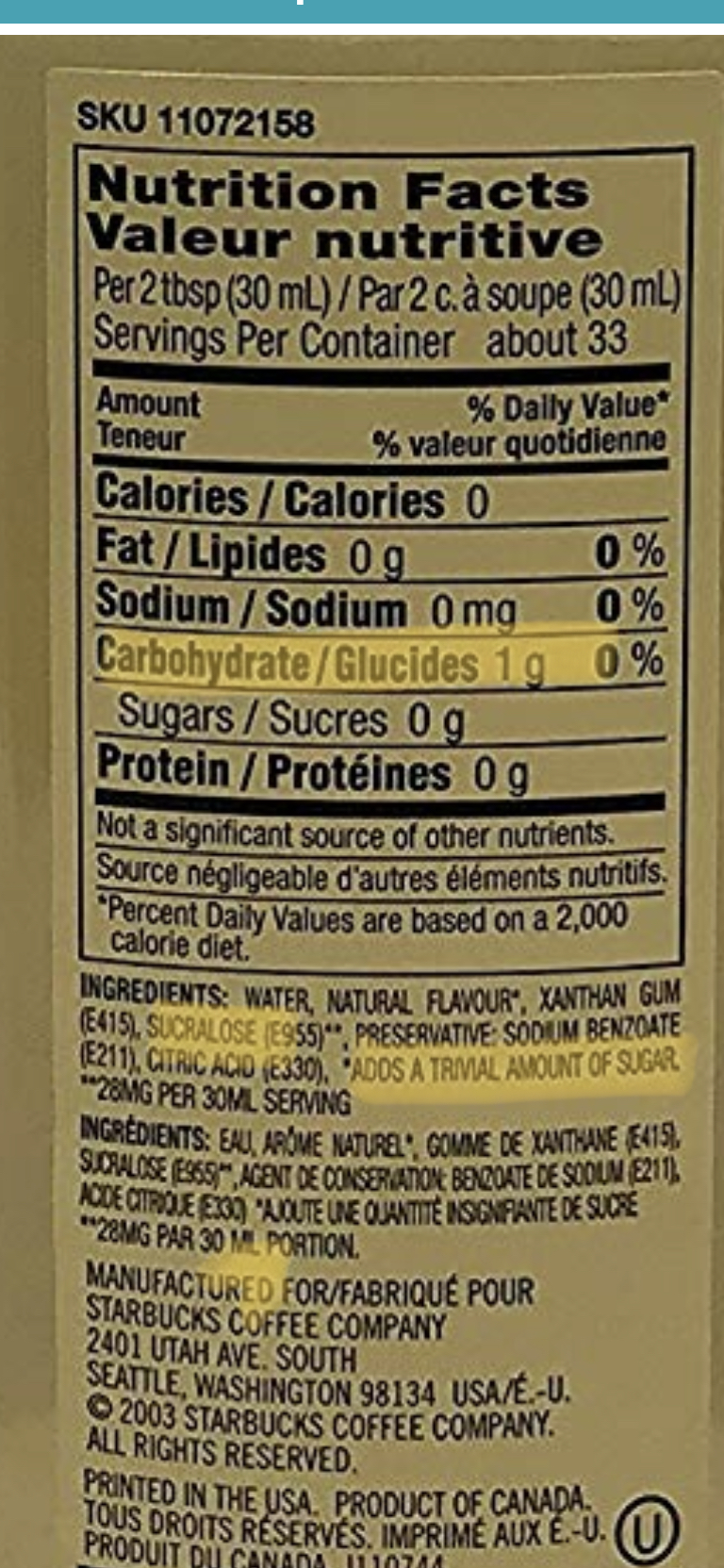 Sugar Free Cinnamon Dolce Syrup
