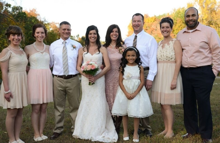 Entire family at our oldest daughter, Christyn's, wedding.