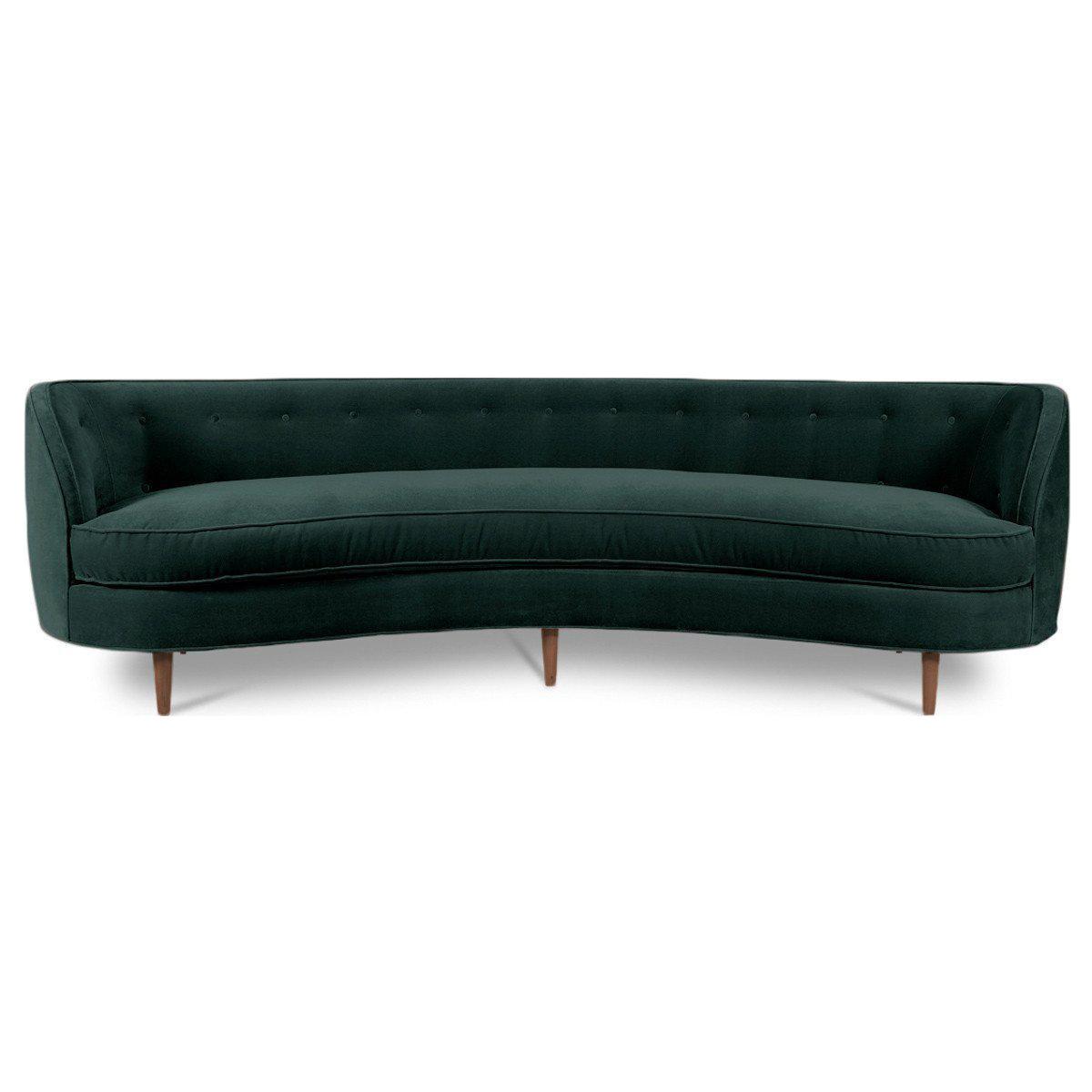 St. Tropez Curved Sofa on Chairish