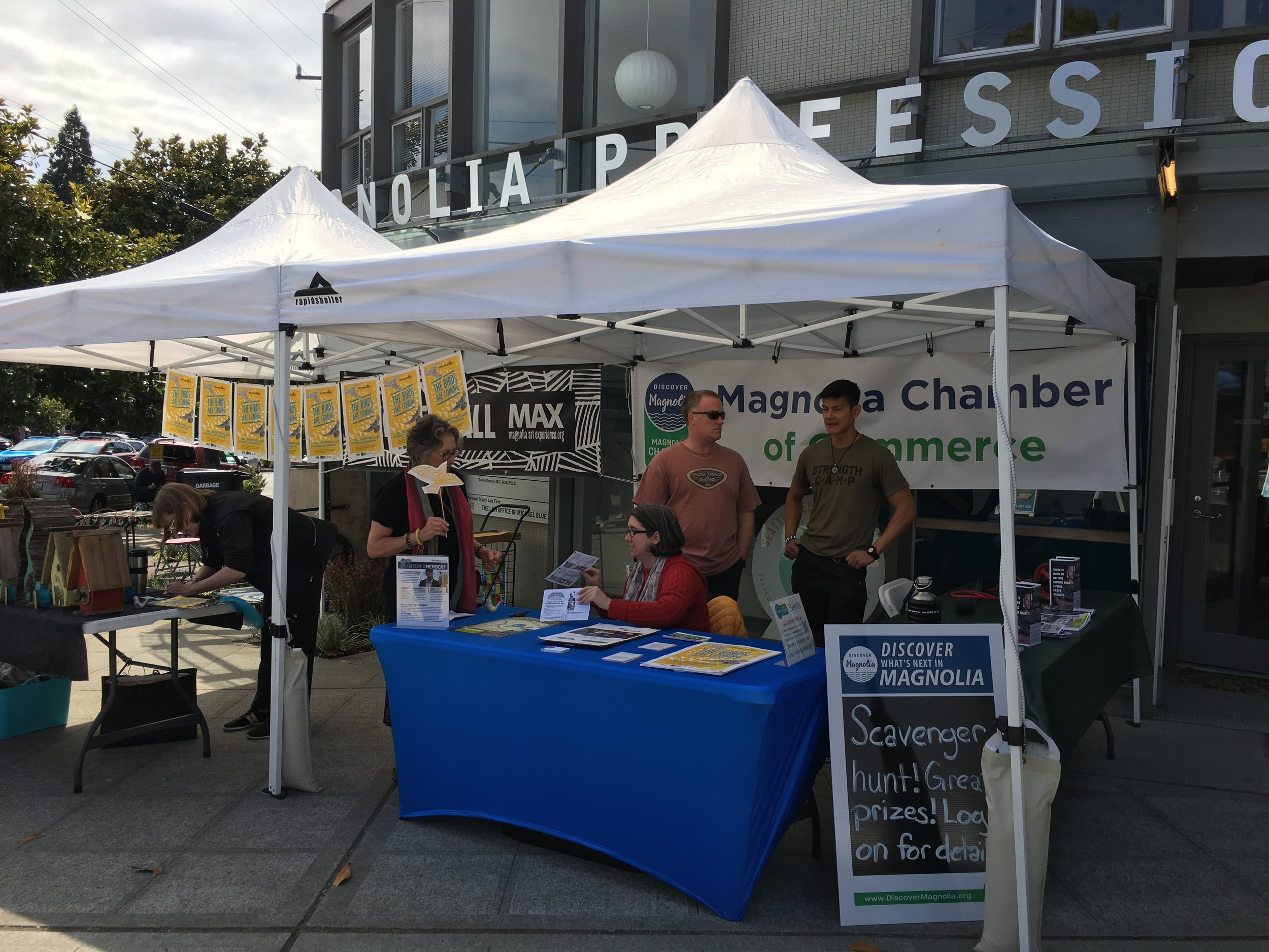 Member Spotlight - Stop by our booth any Farmers Market Saturday in the Village to learn about Chamber events, membership, and business and nonprofit members.