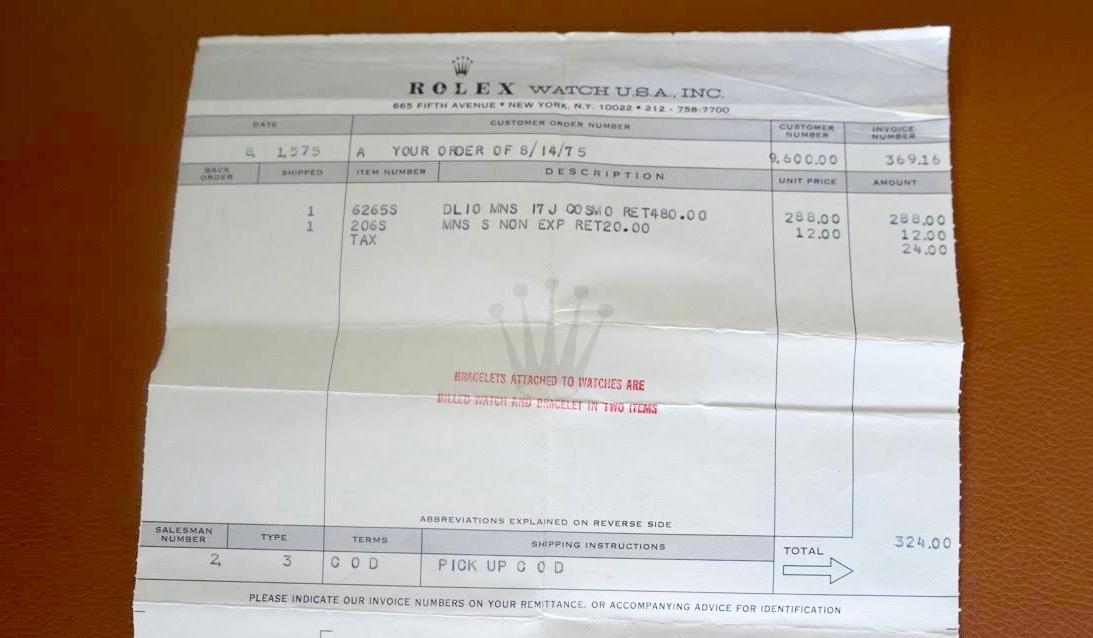 Daytona Invoice