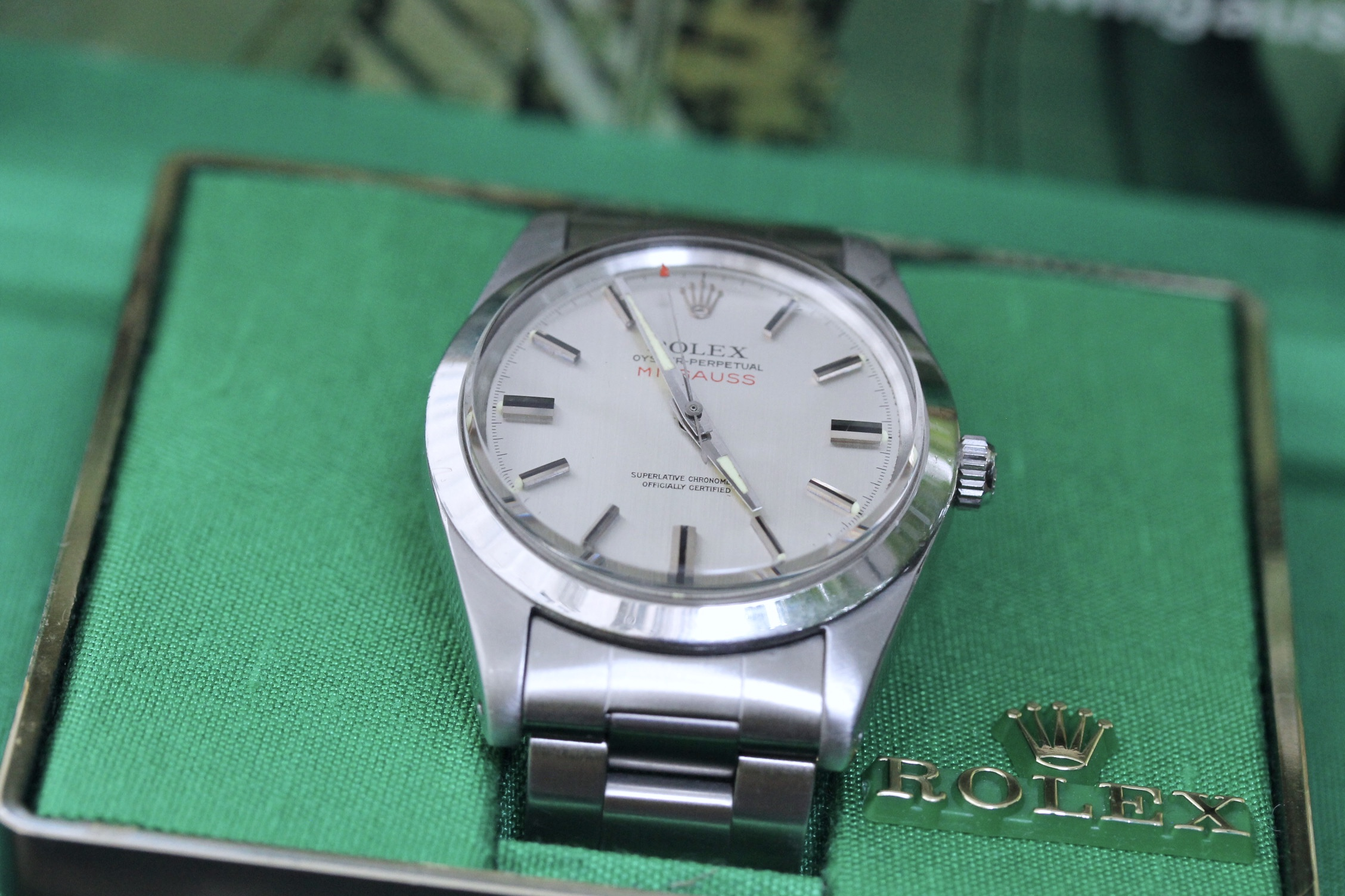 Tom's Milgauss Ref. 1019 - I'll be honest, on first glance, I thought Tom was wearing a Datejust...It wasn't until my eye caught his watch in just the right light - at just the right angle - that the 38mm case, with its extra-wide, smooth bezel, glinted back at me.And then the red, upper case, sans serif font came into focus. I couldn't let this opportunity pass me by. I had to talk to Tom about his watch…