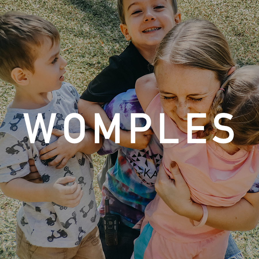 Womples is short for  coddiwomple , which means to travel in a purposeful manner towards a vague destination.