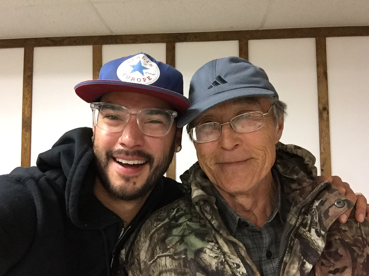 Made some great friends in the community.  John Smith, an elder in the community of Quinhagak, Alaska.
