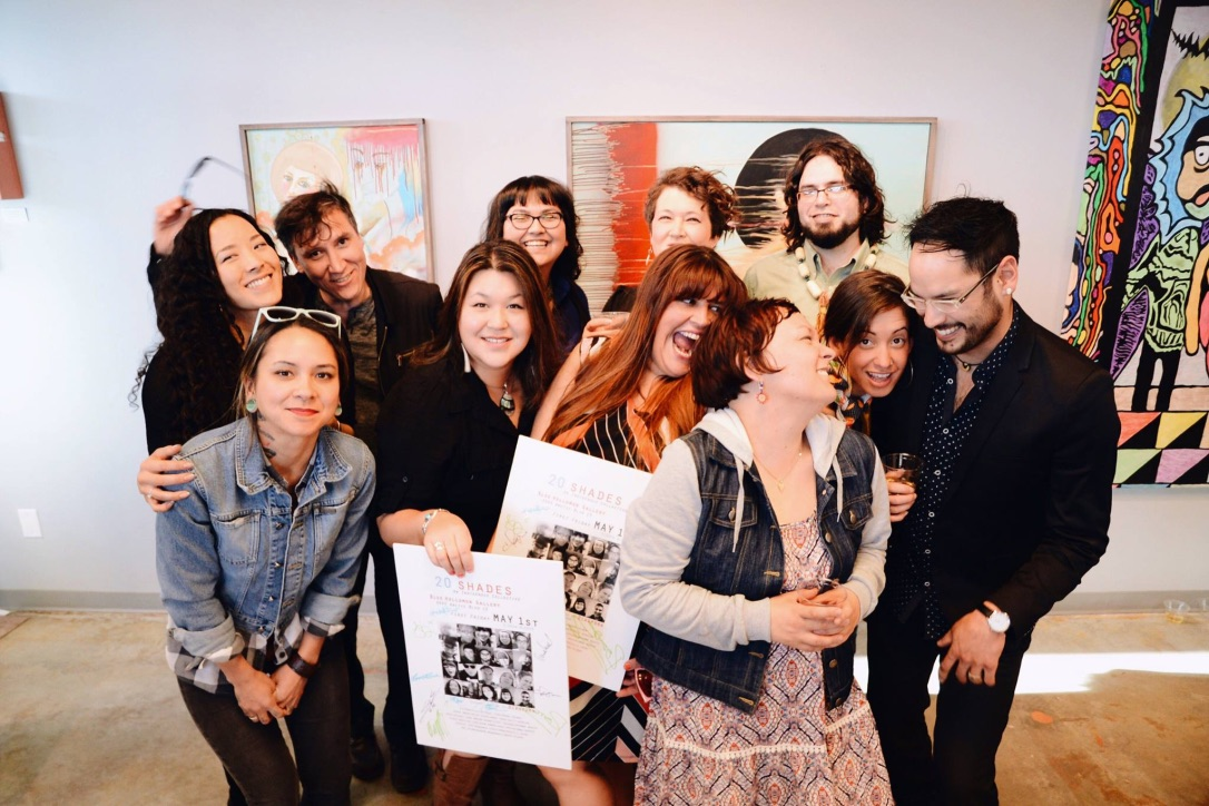 Diaspora Art Collective- 20 Shades show at BlueHolloman Gallery 2015