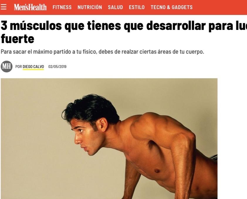 Men's Health - 3 Puntos claves a desarrollar en el torso masculino.