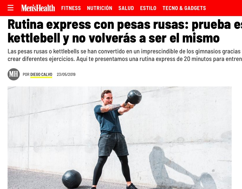 Men's Healh - Rutina express con kettlebells