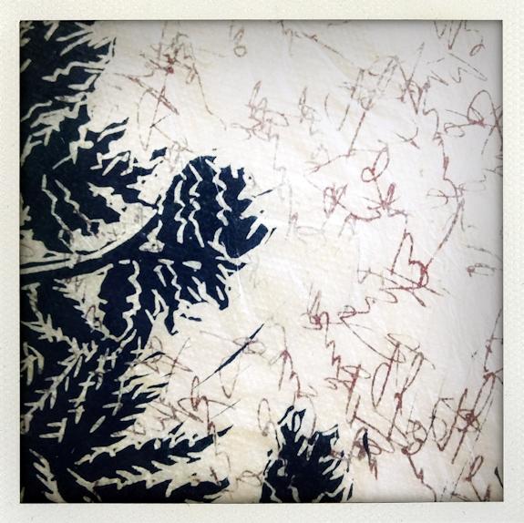 Nature/Nurture folio: detail of Kate Simpson's print