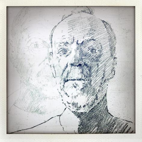Skin Deep folio: detail of Geoff Gibbons' print