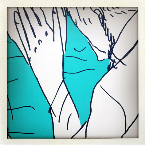 Skin Deep folio: detail of Leo Greenfield's print