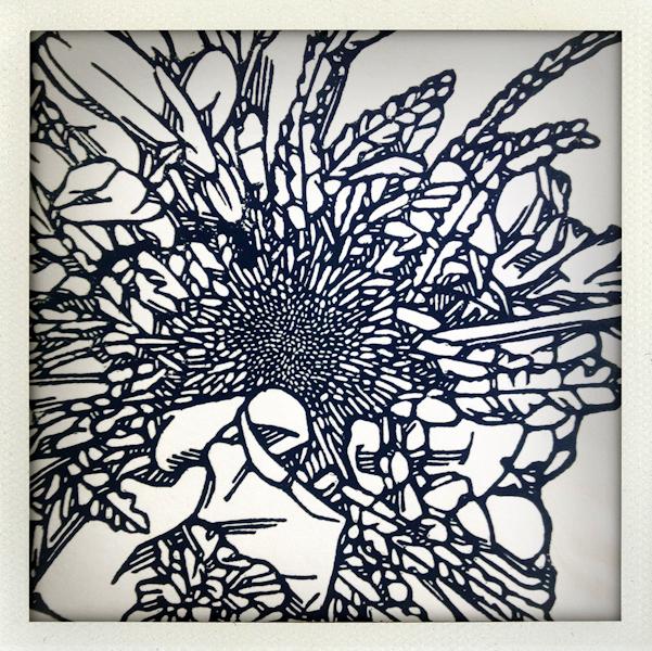 Nature/Nurture folio: detail of Anna Austin's print