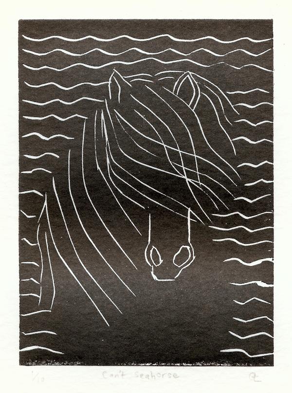 Gillian Leahy 17 Can't Seahorse, lino print LR.jpg