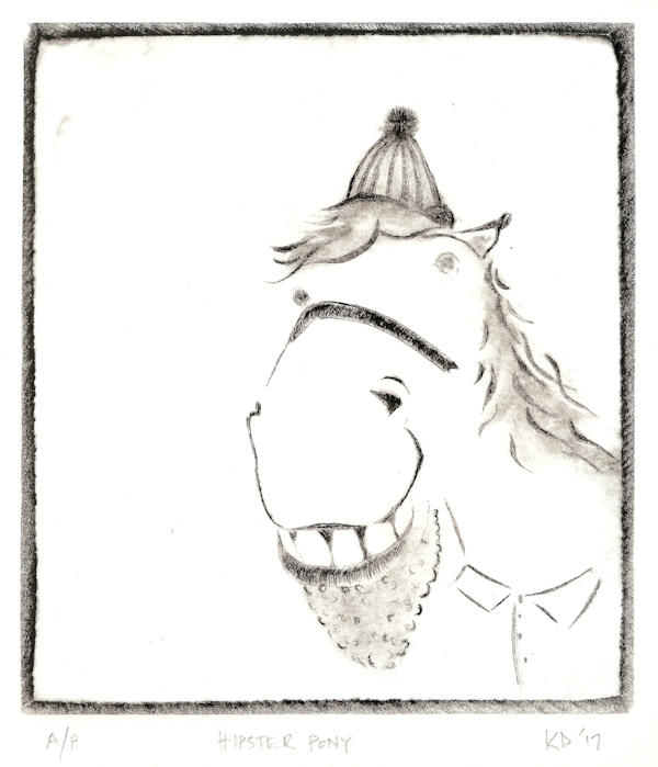 Kaveeta Deut 17 Hipster Pony, acrylic drypoint LR.jpg