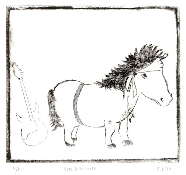 Kaveeta Deut 17 Jon Bon Pony, acrylic drypoint LR.jpg