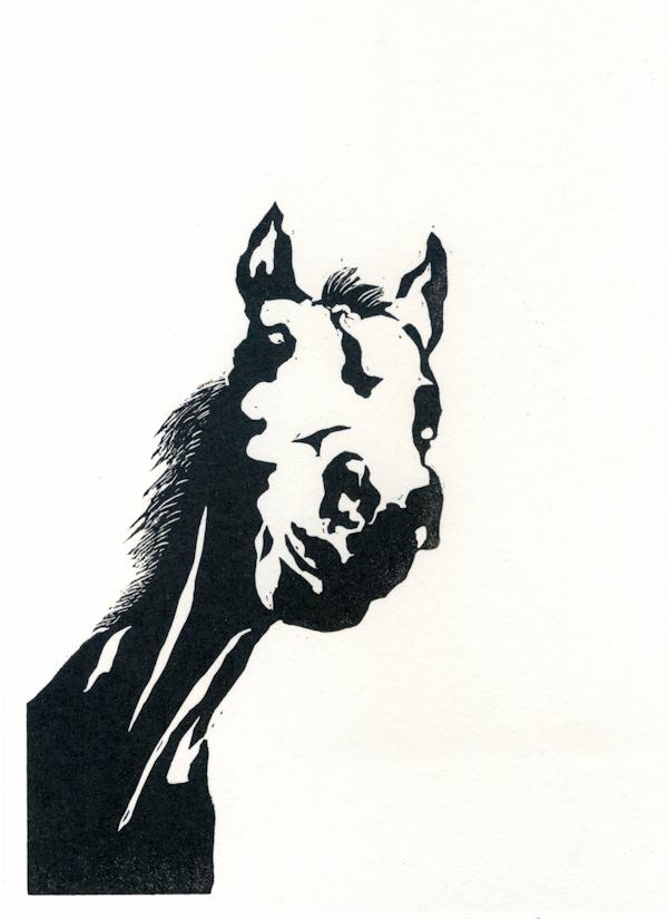 Ruth Fernandez 17 Nosy Pony, lino print LR.jpg