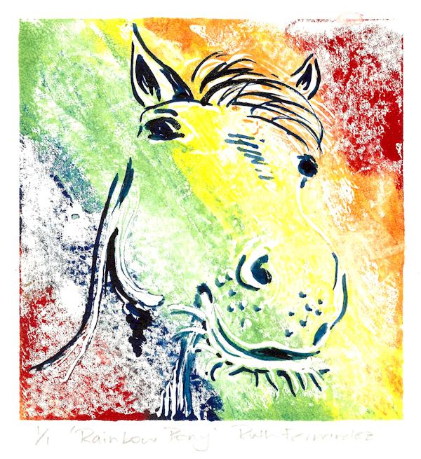 Ruth Fernandez 17 Rainbow Pony, trace monotype LR.jpg