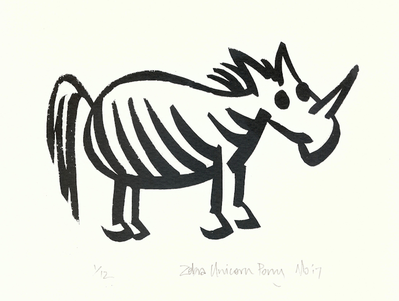 Simone Tippett 17 Zebra Unicorn Pony, screenprint LR.jpg
