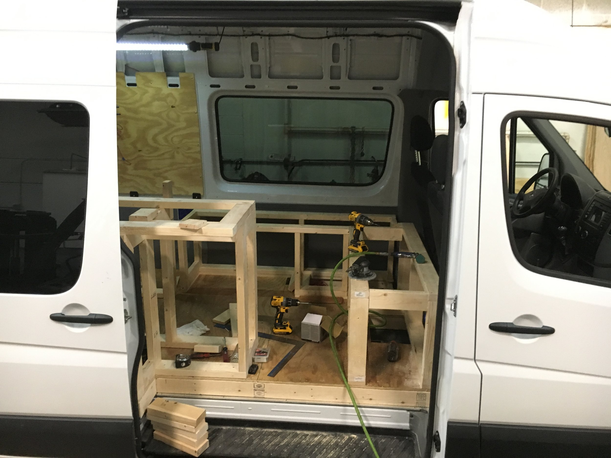 Van Project - Our Team at American Bully Manufacturing Converts a 2018 Mercedes Sprinter Van into an awesome cross country adventure vehicle. When a customer came to us looking to convert there van we saw a great opportunity to showcase our expertise is a variety of disciplines on one project.