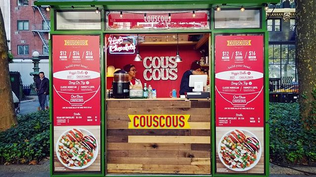 WE ARE OPEN! New season at @bryantparknyc #wintervillage is on. Stop by for a delicious bowl of couscous + (probably) the best vegan hot chocolate in town.