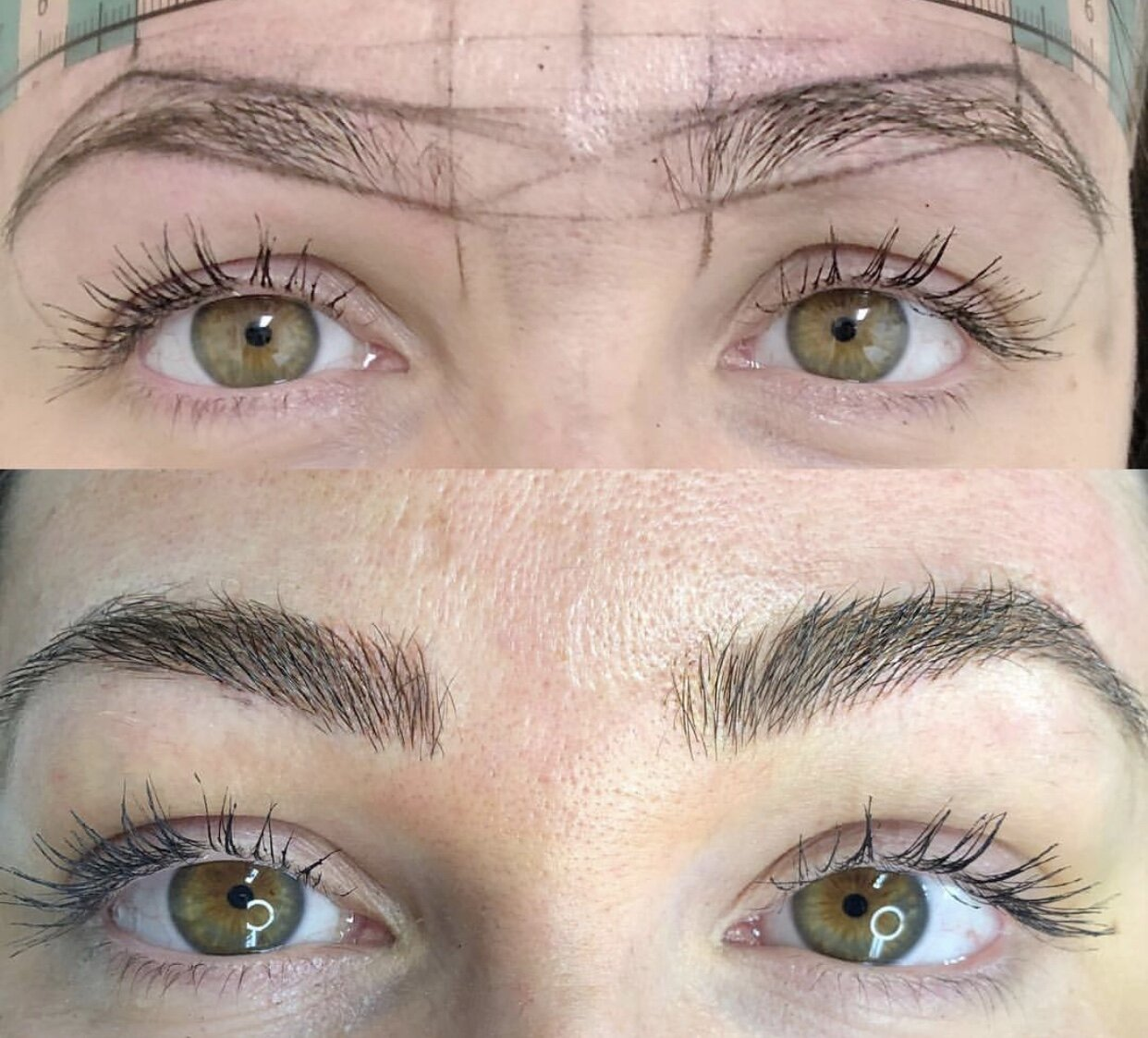 Before And After Microblading Eyebrow