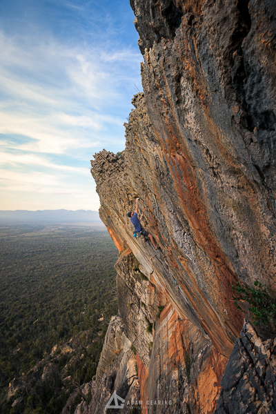 Dan Brown onsight of Upper Cut (22) - Grampians
