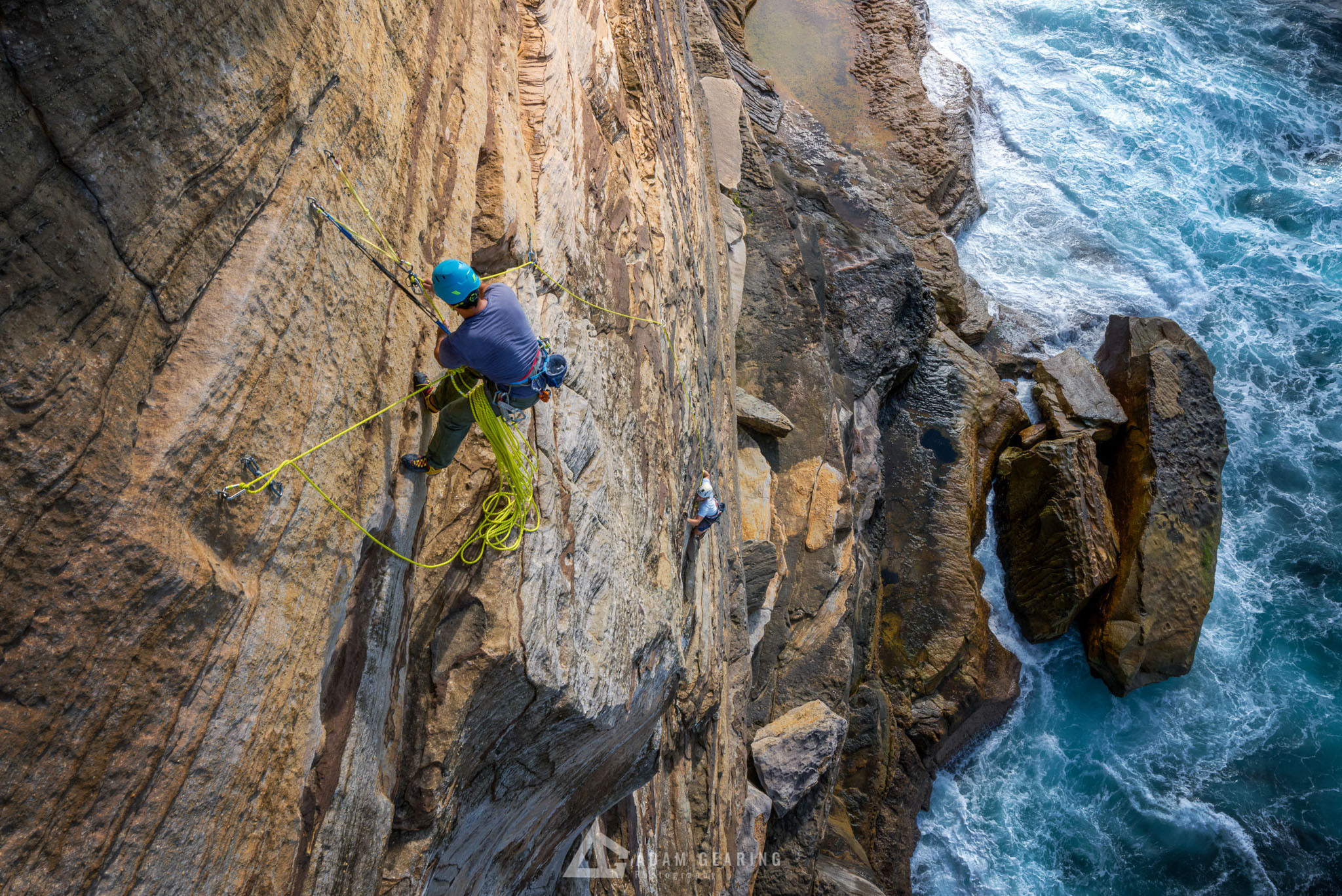 Ben Miura and Jeremy Levett on Pitch 1 of Last Wave (22), Vaucluse NSW