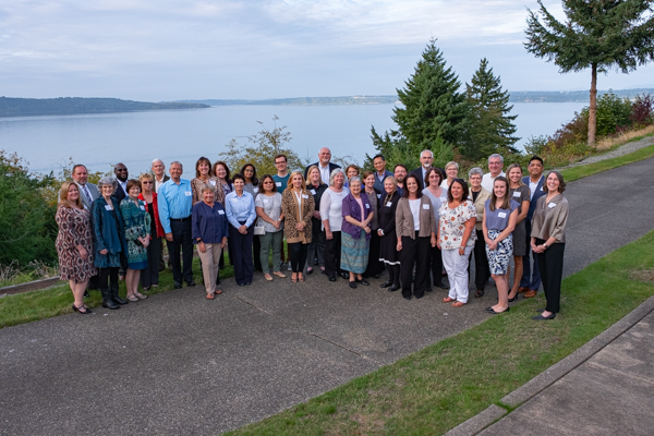 September 25, 2019 - Current and past SCC board members and guests gathered at the Archbishop Brunett Retreat Center at the Palisades to celebrate the Coalition's 25th Anniversary