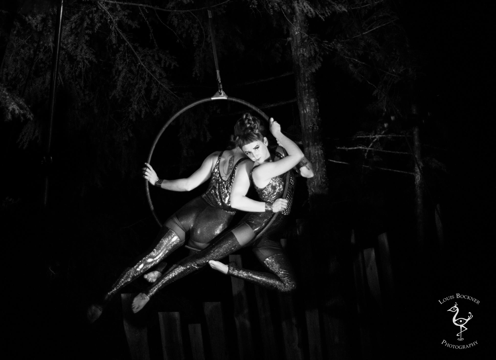 aerial arts - Be awed by our aerialists, choose from a multitude of acts: solo and duo lyra, silks, and dance trapeze.