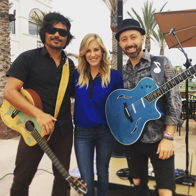 Had such a #blast #early this #morning with @leecoulter and @ashleyjacobstv at @villageatpacifichighlandsranch in promotion of the #SummerAndSongs Series on @cbs8 and @thecwsandiego. We filmed a few live segments and one for re-airing later and we had such a #fun  #laugh through the whole morning together!  Come see me perform Aug 2 at 6pm at @villageatpacifichighlandsranch in the center courtyard. - #SanDiego #livemusic #localmusic #singersongwriter #music #summerfun #morningtv #carmelvalley #summernights #fireflies #bose #taylorguitars #cbs8 #alternativestrategies #julio