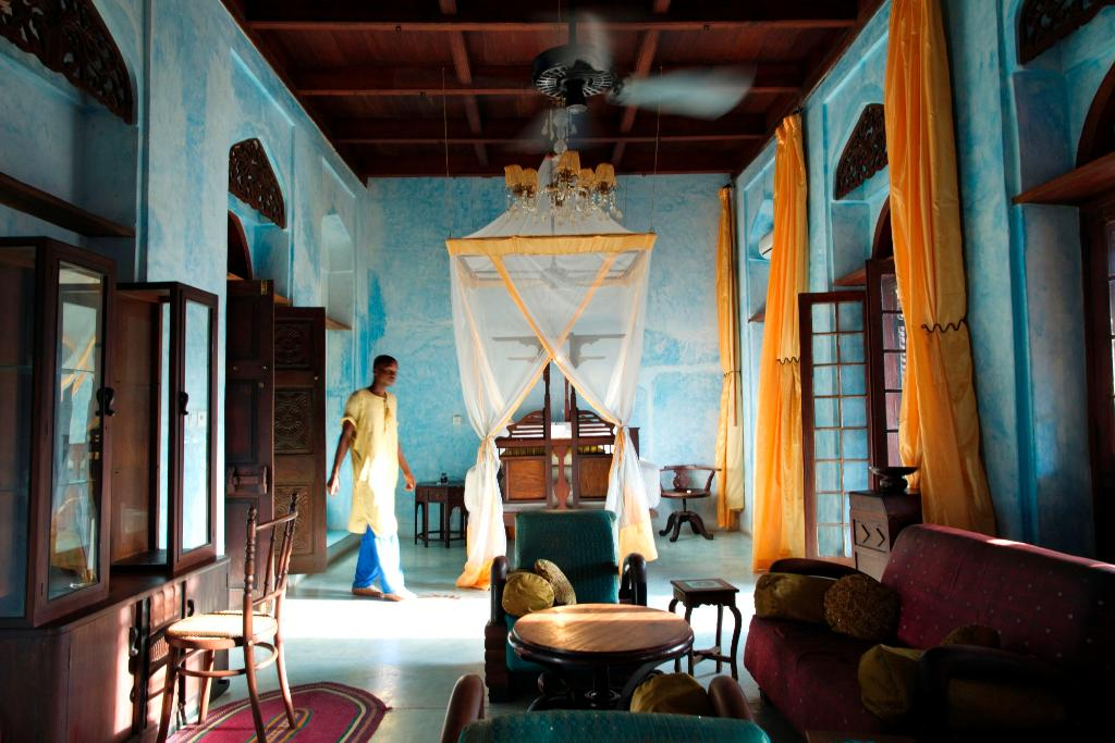 Emerson Spice Hotel   Stay in a World Hertitage Site and a restored merchants home. The rooftop 'Tea House' hosts one of Stonetown's most renowned restaurants offering a stylish ambiance amidst the sound of the calls to prayer from the town's many mosques.