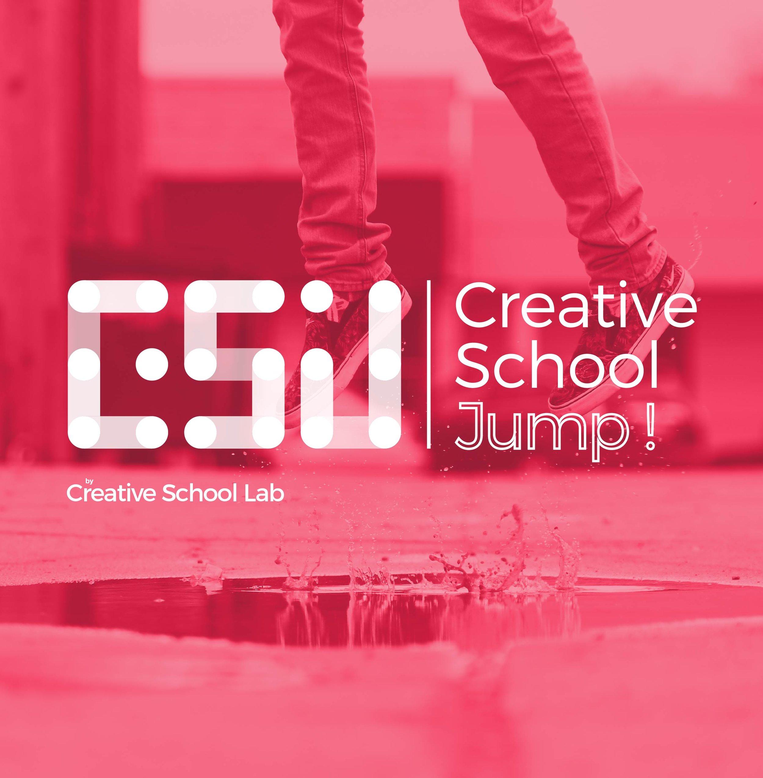 Creative School Jump !   Financement et formations pour booster la créativité dans votre école.