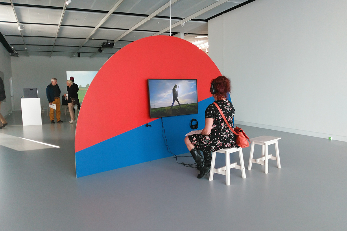 Installation view at KAF Almere during the exhibition Once more, with feeling  (2017) Photos:Geert van der Wijk