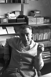 Barthes photographed by   Henri Cartier-Bresson  , 1963.