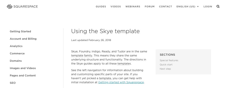 Choosing templates in squarespace Alex Morton Creative