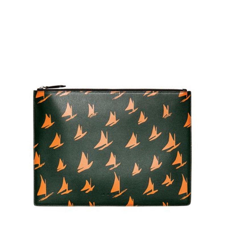 Leather Orange Sail Print Document Case by MARNI - £380   www.marni.com