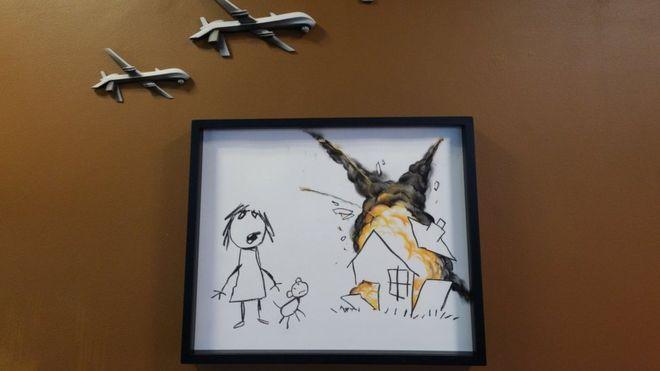 Banksy - Civillian Drone Strike - Image Credit: BBC News