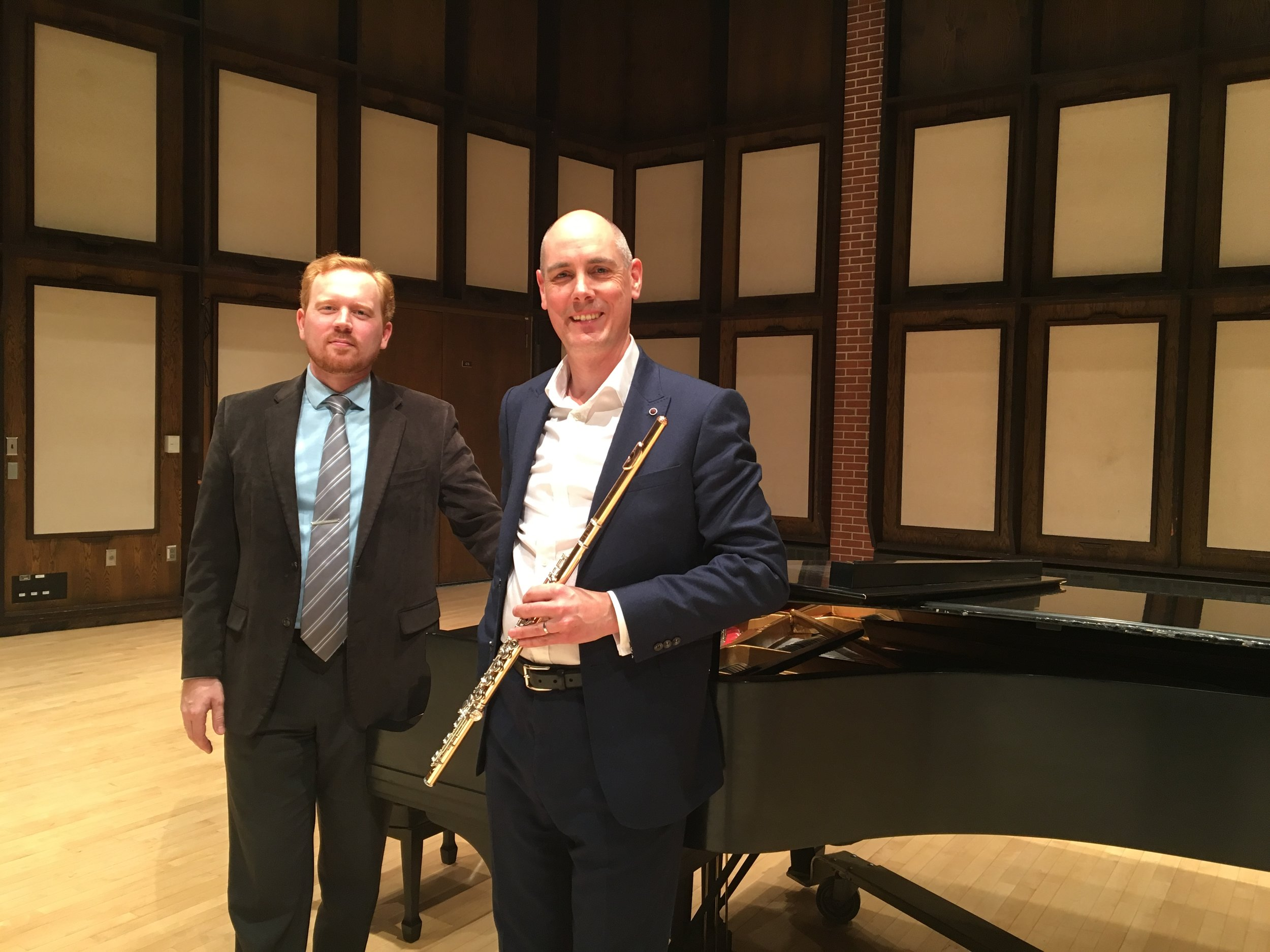 With Ivan Konev after our recital at University of Wisconsin-River Falls, December 2016