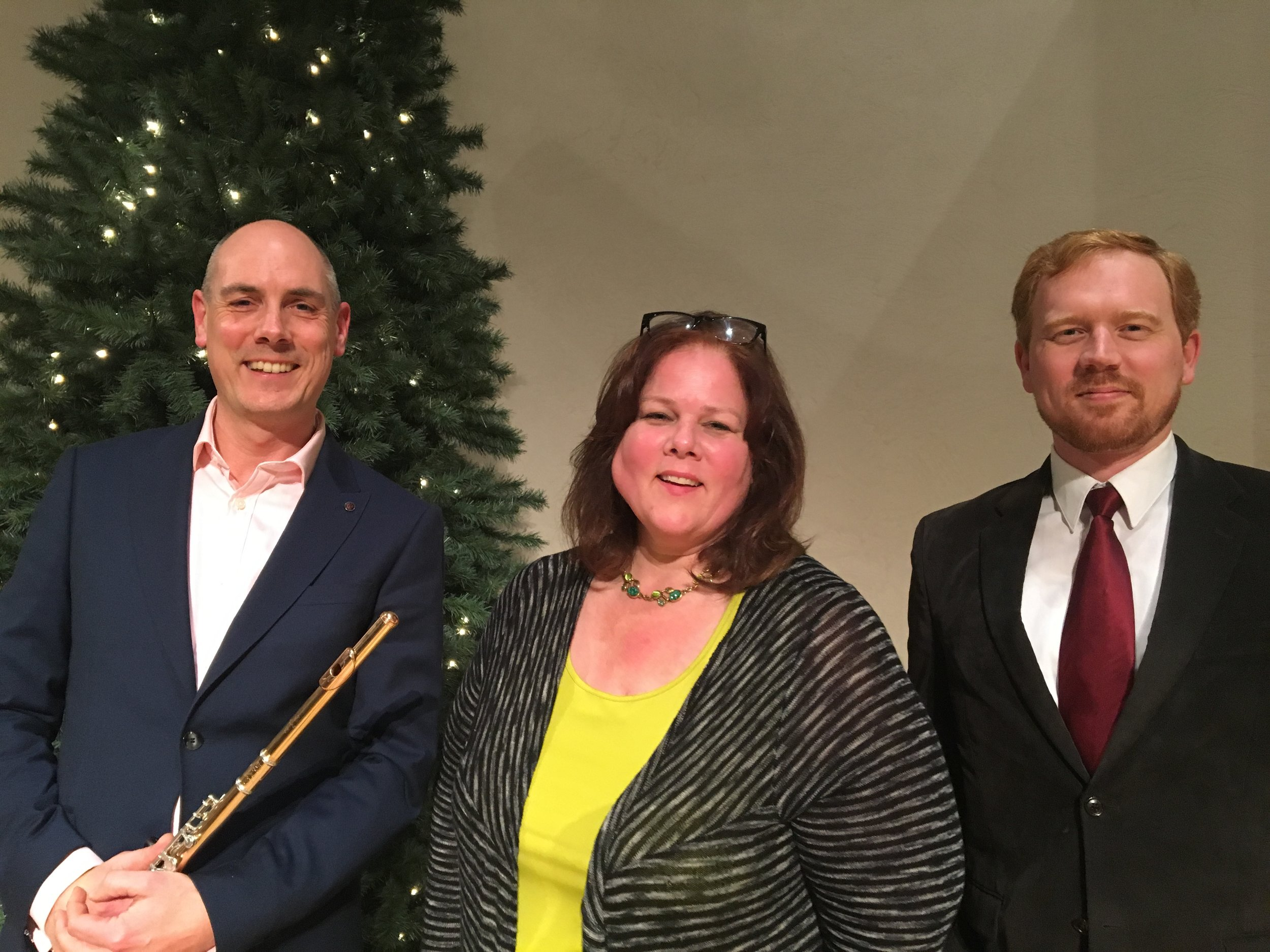 With Margaret Jane-Wray and Ivan Konev after our solo appearances at St.Croix Valley Symphony Orchestra Concert,December 2016