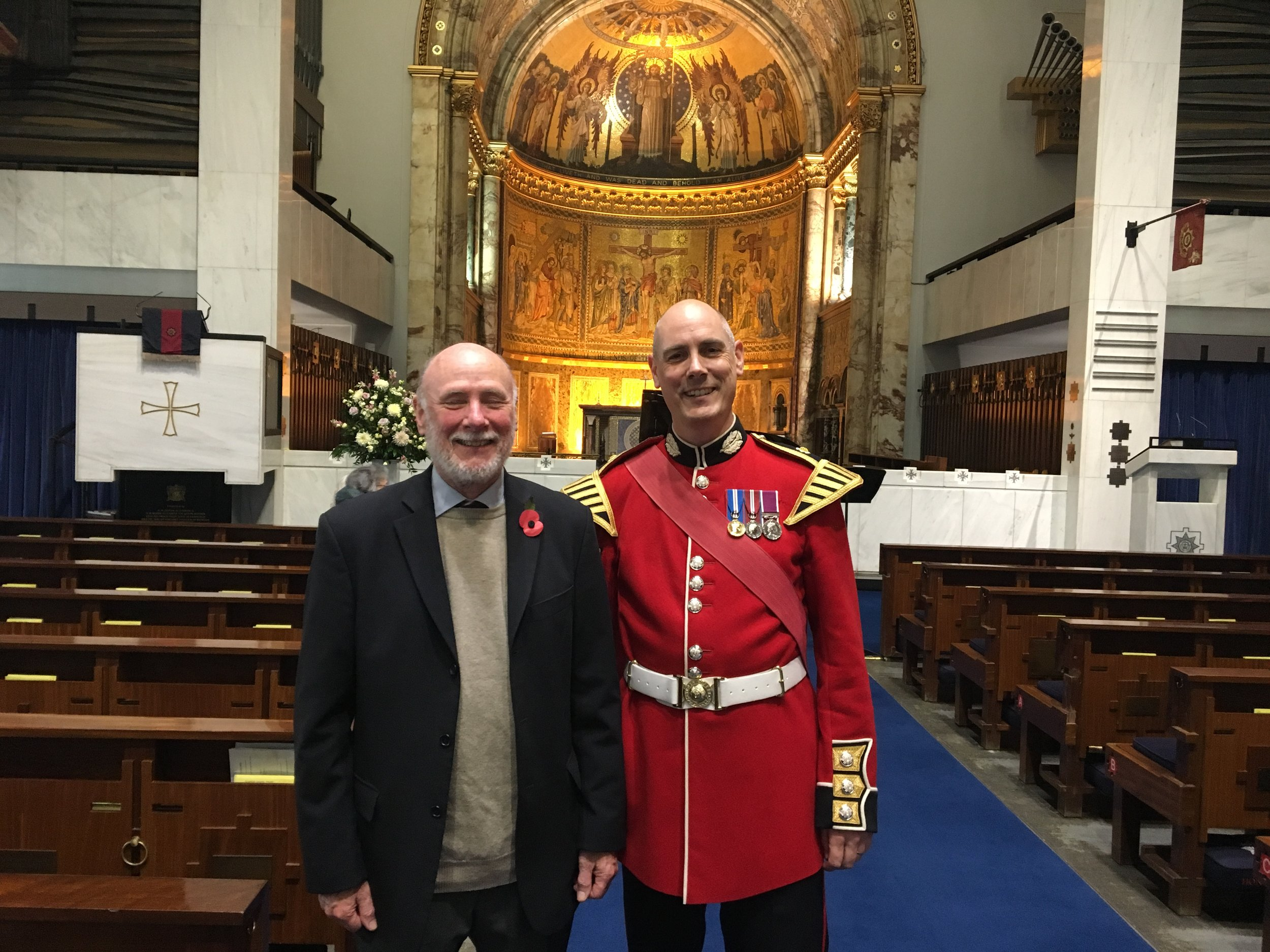 With Dan Rootham, grandson of Cyril Bradley Rootham, October 2017