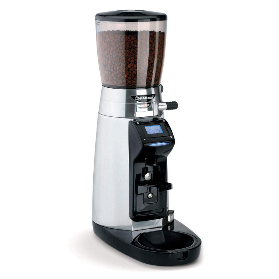 Magnum Wireless  Interacts automatically via Bluetooth with the coffee machine (when the latter is equipped with a special electronic board): the machine sends a signal to the grinder so that it adapts the granulometry and dose according to the data received in order to obtain the best in-cup result.